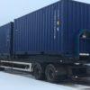 Container på lastväxlarram